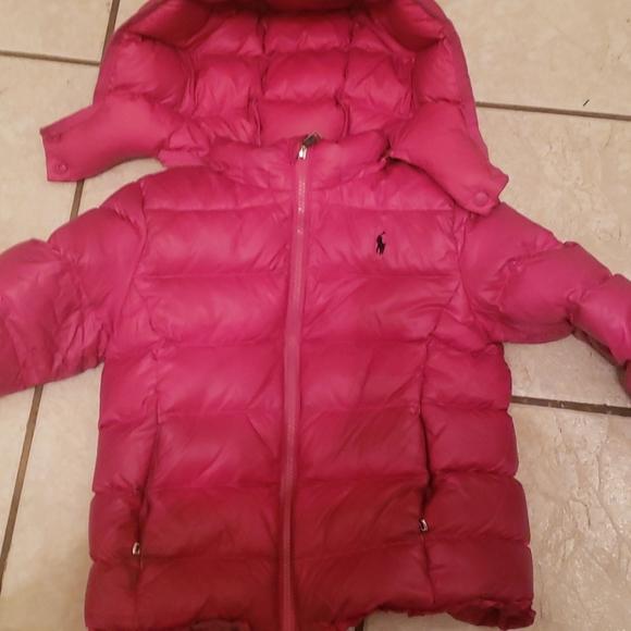 Girl pink polo jacket